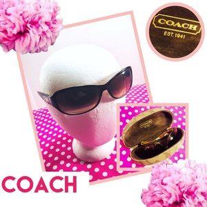 COACH Sarah Tortoise Shell Sunglasses w/Case